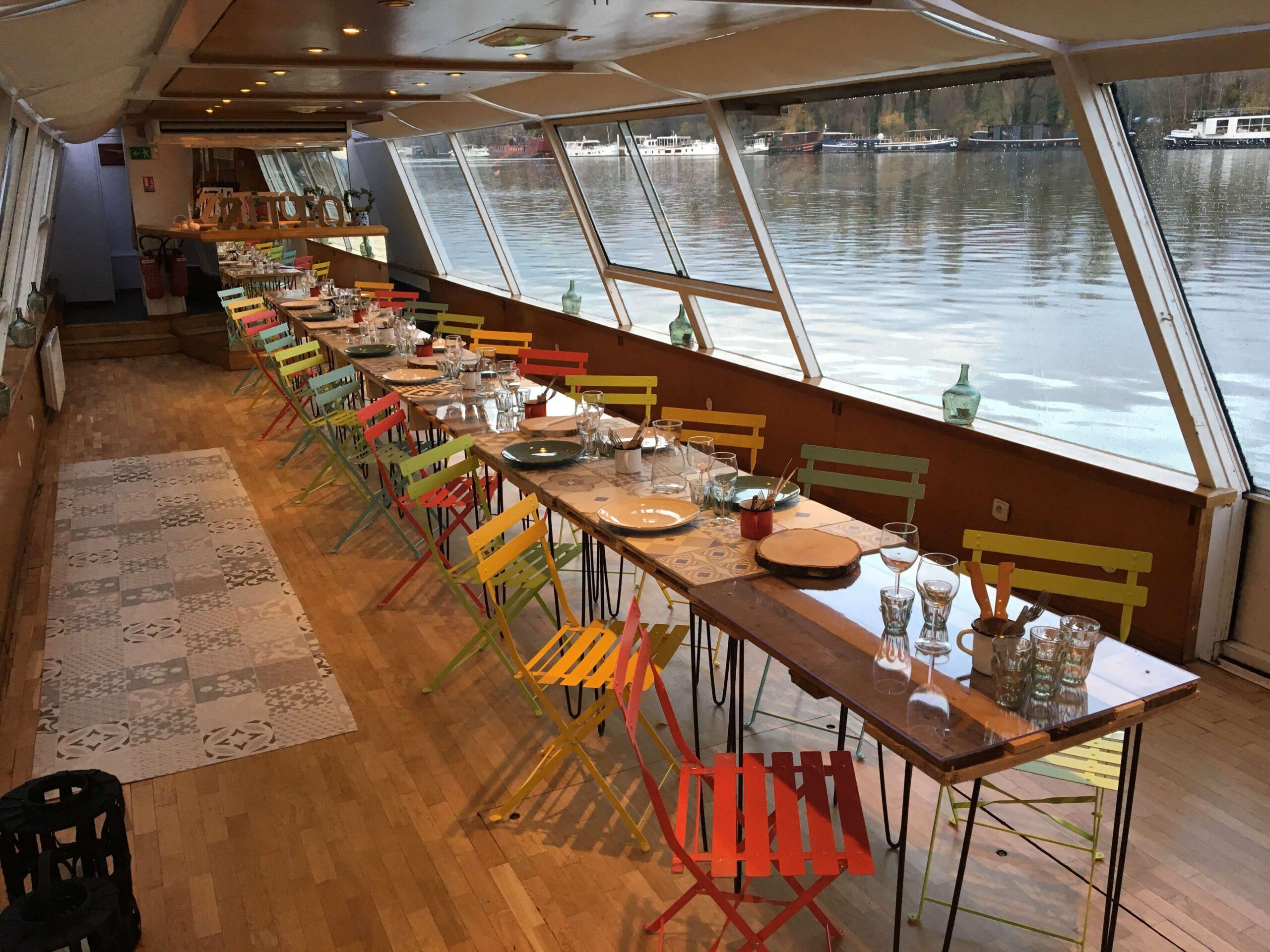 Restaurant paris bateau
