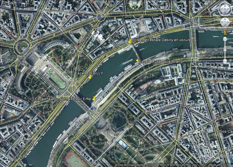Debilly, la Bourdonnais Tour Eiffel et Musée quai Branly